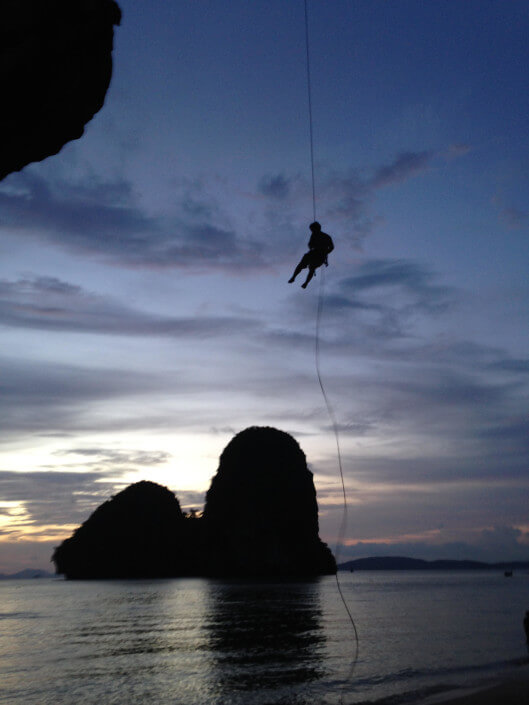 learn how to rock climbing at Railay Beach, Krabi with multiple day courses
