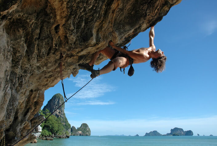 hire a private guide for your climbing tour in Railay Beach
