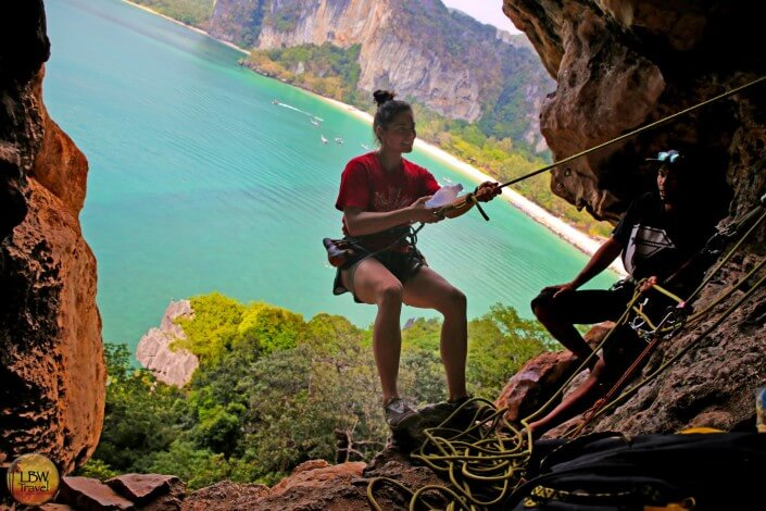full day rock climbing tour and viewpoint at Railay Beach, Krabi trips run daily