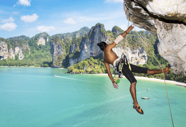 Multiple day and advanced climbing courses available daily at Railay Beach in Krabi