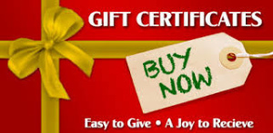gift certificate stock