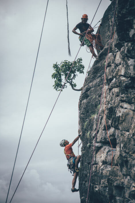 Professional rock climbing photography for hire, Krabi