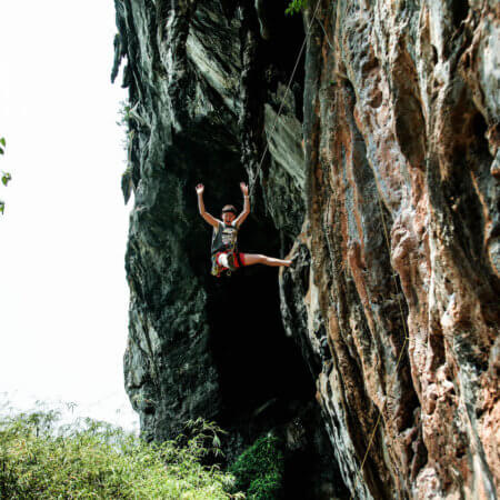 Professional climbing photography for hire, Krabi