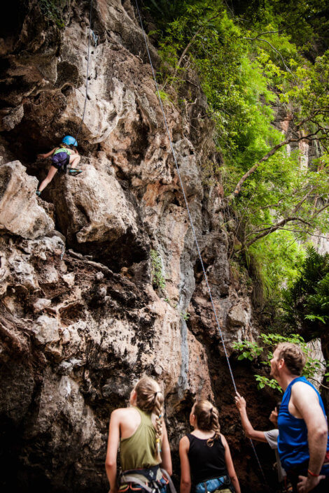 Rock climbing Krabi, Railay, Thailand